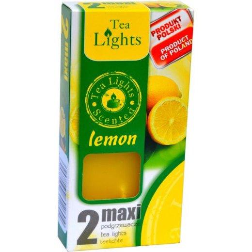 Admit Scented Maxilights podgrzewacze zapachowe typu maxi 59 mm ~ 10 h 2 szt - Lemon